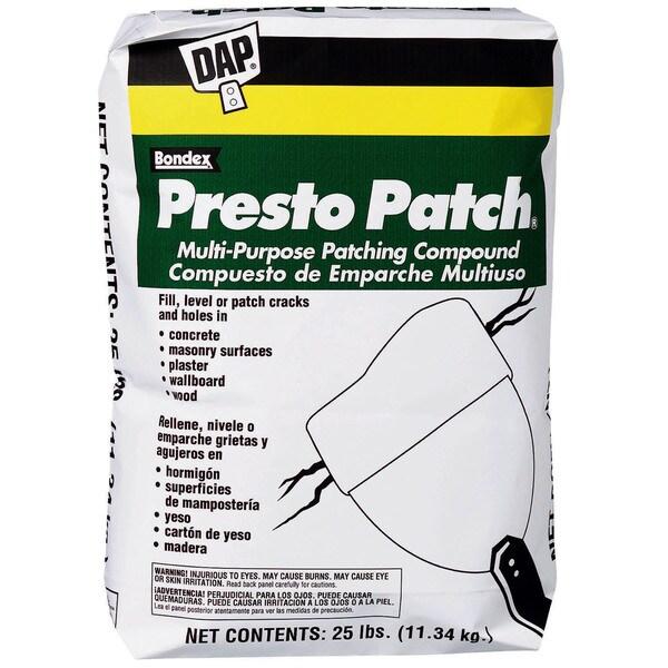 Dap 58552 25 Lb Presto Patch Multi Purpose Patching Compound