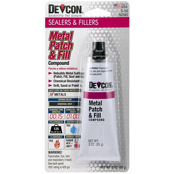 Devcon 50345 S-50 3.5 Oz Metal Patch & Fill Compound