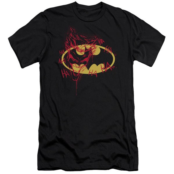 Batman/Joker Graffiti Short Sleeve Adult T-Shirt 30/1 in Black