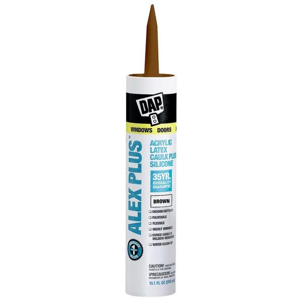 Dap 18120 11 Oz Brown Alex Plus Acrylic Latex Caulk With Silicone