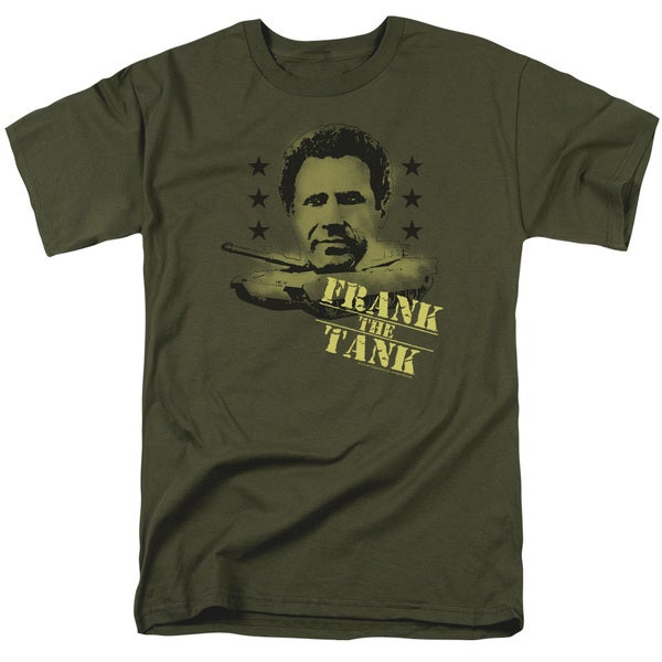 Old School/Frank The Tank Short Sleeve Adult T-Shirt 18/1 in Military Green