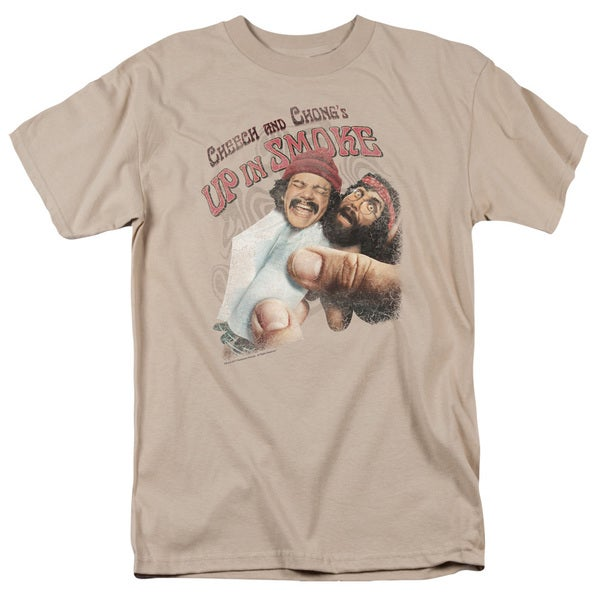 Cheech & Chong/Rolled Up Short Sleeve Adult T-Shirt 18/1 in Sand