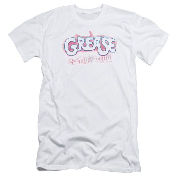 Grease/Grease Is The Word Short Sleeve Adult T-Shirt 30/1 in White
