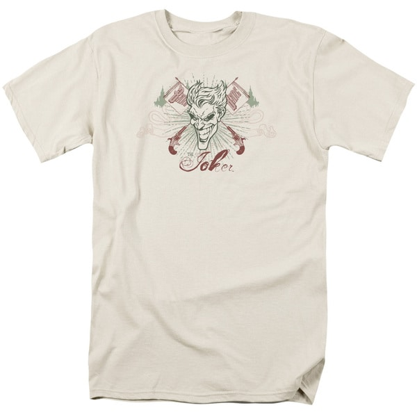 Batman/The Joke's On You Short Sleeve Adult T-Shirt 18/1 in Cream