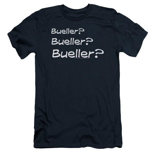 Ferris Bueller/Bueller? Short Sleeve Adult T-Shirt 30/1 in Navy
