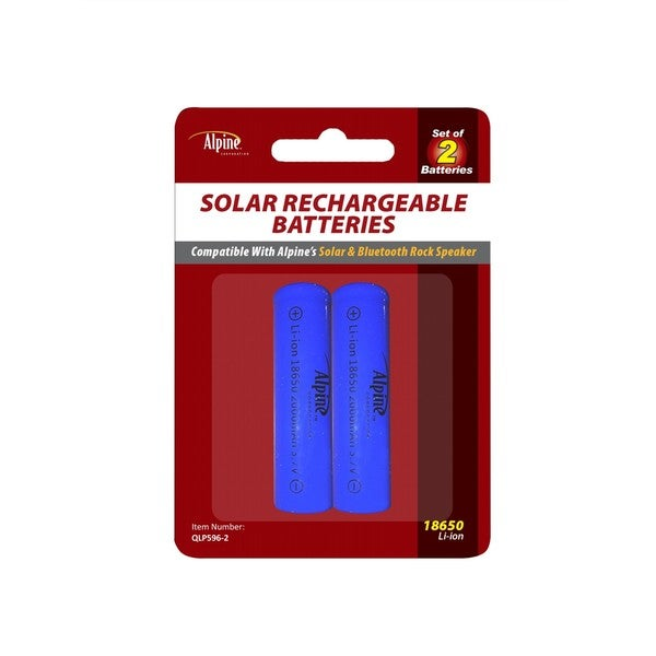 Alpine Solar Rechargeable Li-ion Battery (Pack of 2)