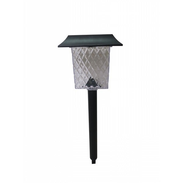 Alpine Black Plastic Outdoor Solar Pathway Lights (Pack of 6)
