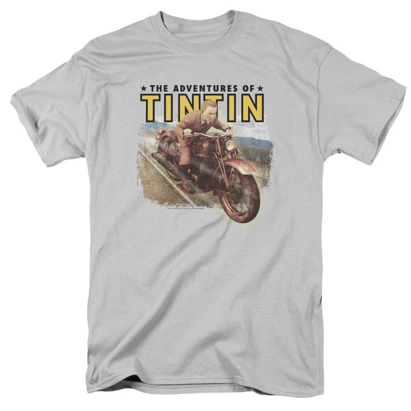 Tintin/Open Road Short Sleeve Adult T-Shirt 18/1 in Silver