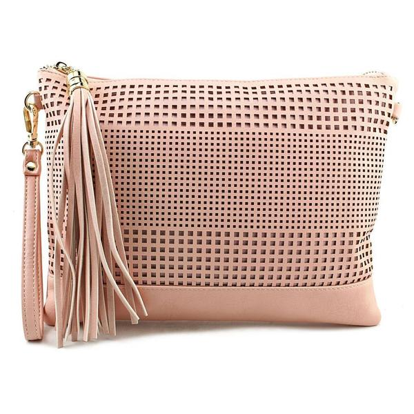 Kelly & Katie Women's Kali Pink Faux Leather Handbag