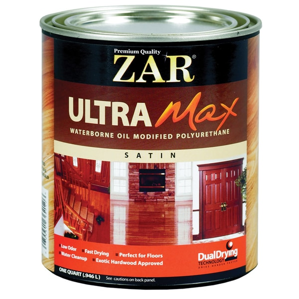Zar 36212 1 Quart Satin Interior Waterborne Oil Modified Polyurethane