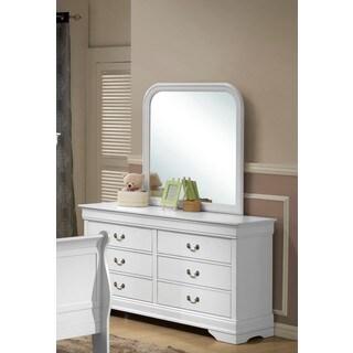 LYKE Home Lawson White Dresser and Mirror Set