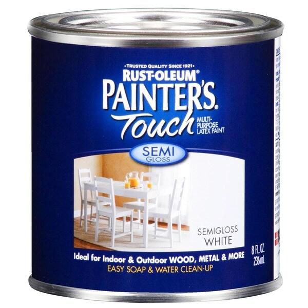 Painters Touch 1993-730 Pint Semi Gloss White Painters Touch Multi-Purpose Pain