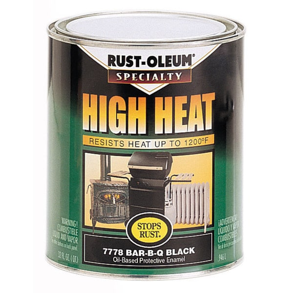 Rustoleum Stops Rust 7778-502 1 Quart Black High Heat Oil-Based Protective Enamel Paint