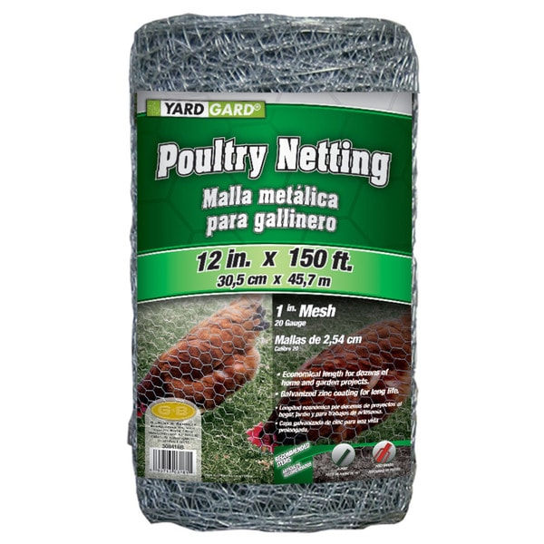 Yard Gard 308418A 12 inches x 150 feet 1 inch Mesh Poultry Netting