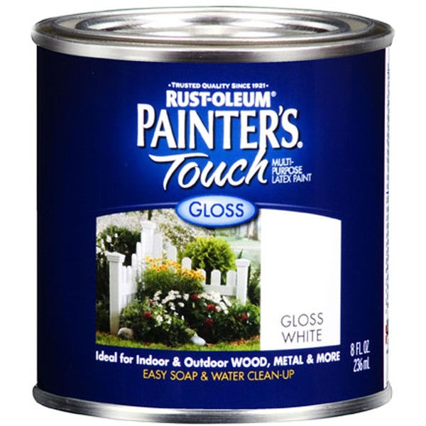 Painters Touch 1992-730 1/2 Pint Gloss White Painters Touch Multi-Purpose Paint