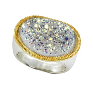 One-of-a-kind Michael Valitutti Snow Opal Druzy Ring