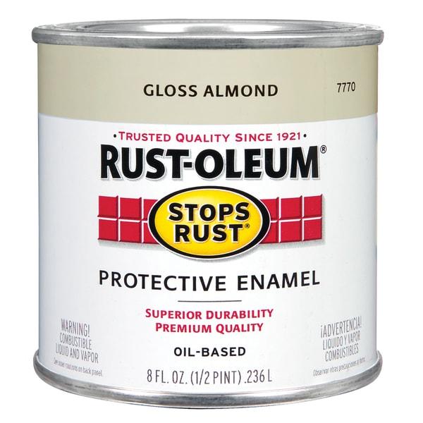 Rustoleum Stops Rust 7770 730 1/2 Pint Almond Protective Enamel Oil Base Paint