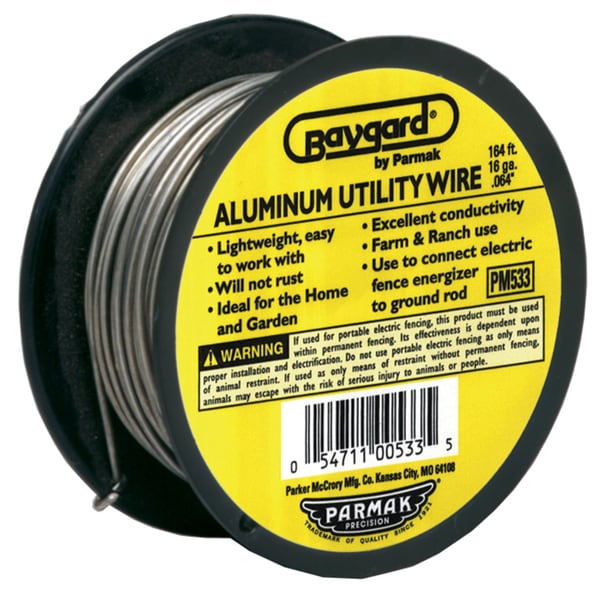 Baygard 00533 Baystock Single Strand Aluminum Wire