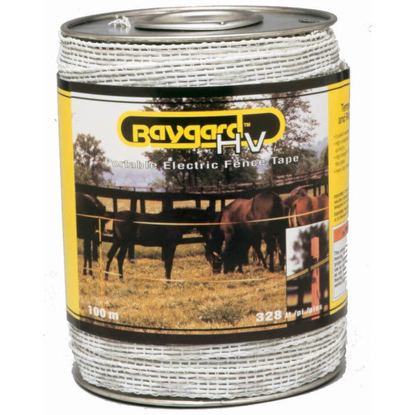 Baygard 00692 328 feet Yellow & Black High Visibility Electric Fence Tape