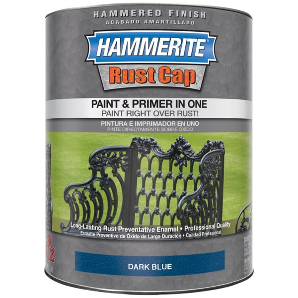 Hammerite Rust Cap 43125 1 Qt Dark Blue Hammered Finish Rust Cap Enamel Paint