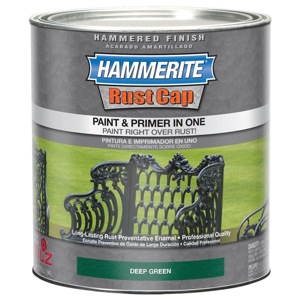 Hammerite Rust Cap 43165 1 Qt Deep Green Smooth Finish Enamel Paint