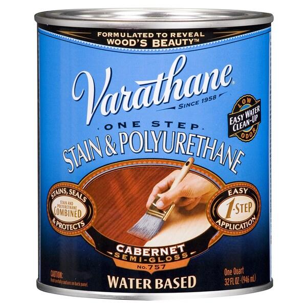 Varathane 239585H 1 Qt. Cabernet Stain & Polyurethane