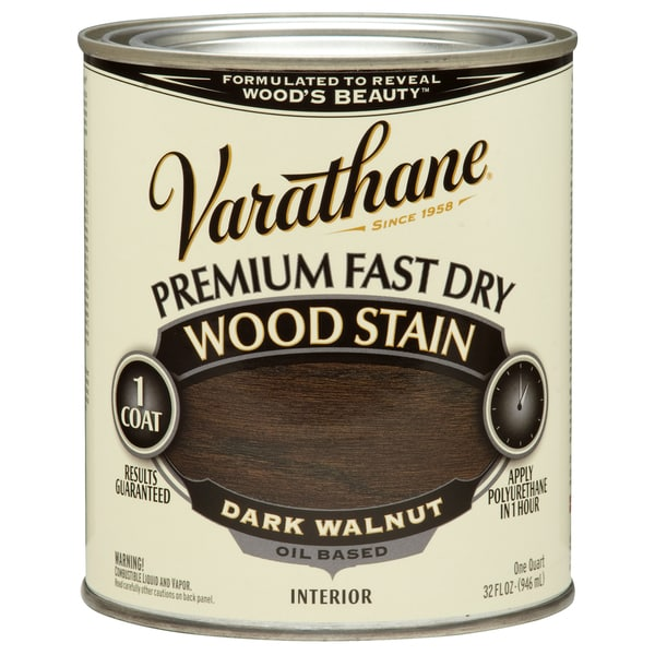 Varathane 262006 1 Qt. Dark Walnut Fast Dry Wood Stain