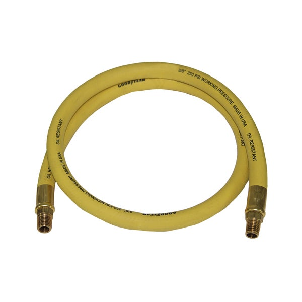 3ft x 3/8in GoodYear Rubber Whip Hose