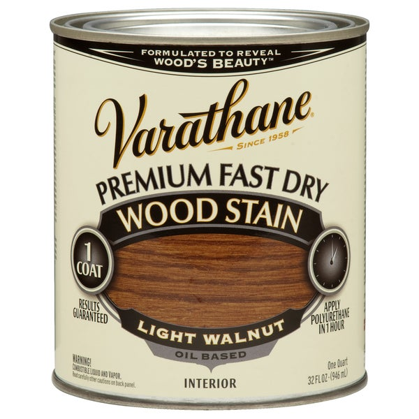 Varathane 262015 1 Qt. Light Walnut Fast Dry Wood Stain