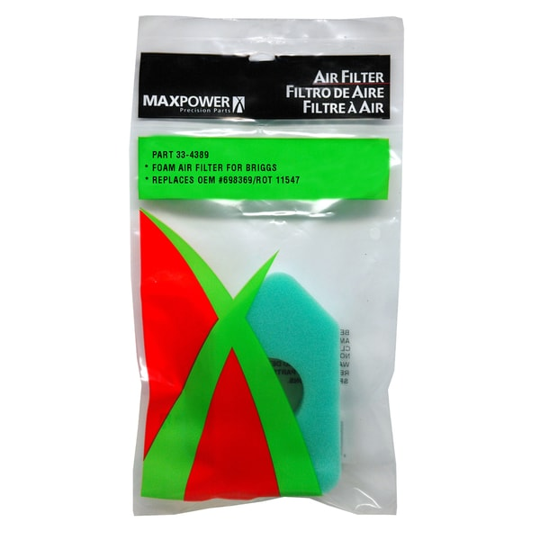 Maxpower 334389 Air Filter For Briggs & Stratton 698369 20100254