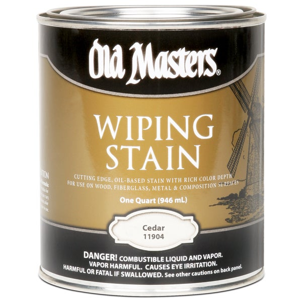 Old Masters 11904 1 Quart Cedar Wiping Stain