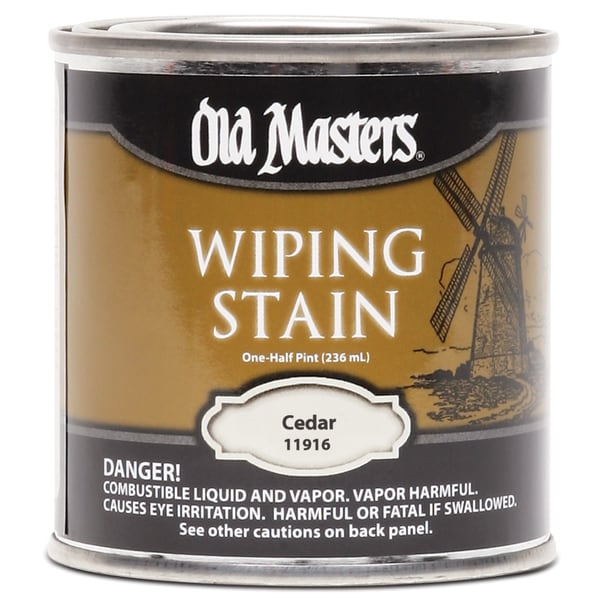 Old Masters 11916 1/2 Pint Cedar Wiping Stain