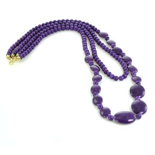 One-of-a-kind Michael Valitutti Double Strand Purple Jade Necklace