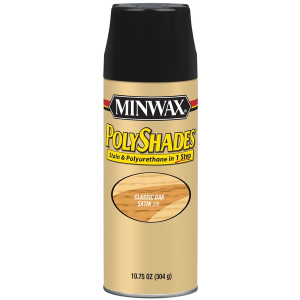 Minwax 31370 10.75 Oz Classic Oak Satin Stain & Polyurethane Spray