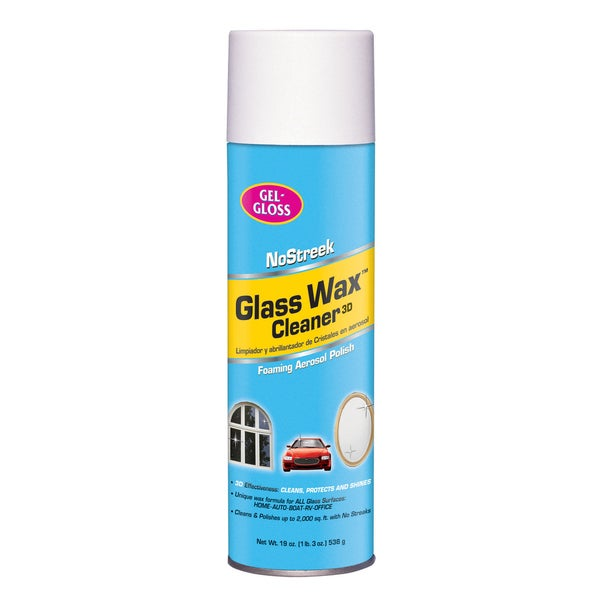 Gel-Gloss NS-019 19 oz. Spray No Streek Glass Wax Cleaner