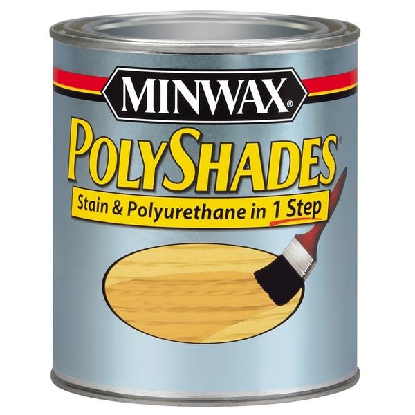 Minwax 61770 1 Quart Classic Oak Polyshades Gloss Wood Stain