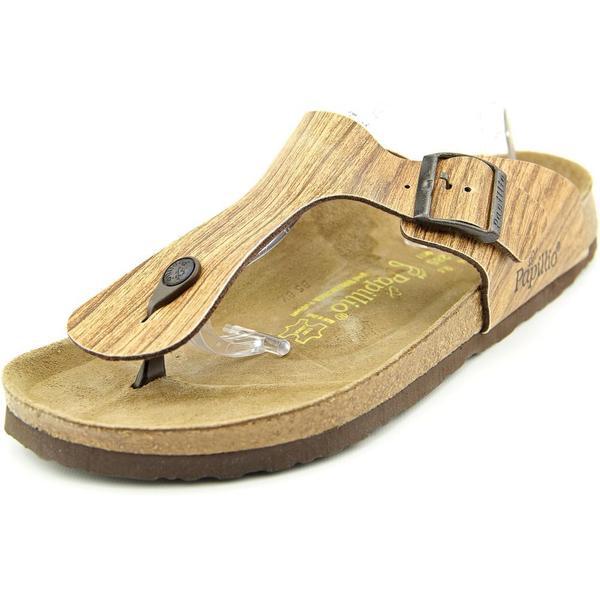Papillio Women's Ramses Brown Faux Leather Sandals