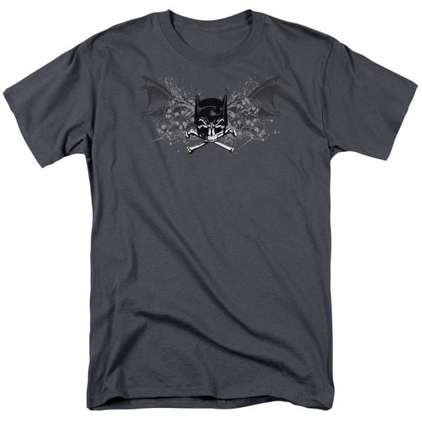 Batman/Ill Omen Short Sleeve Adult T-Shirt 18/1 in Charcoal