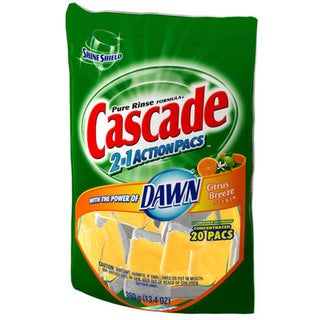Cascade 43121 Cascade 2 In 1 ActionPacs Dishwasher Detergent