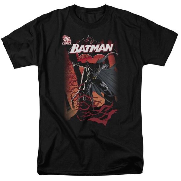 Batman/#655 Cover Short Sleeve Adult T-Shirt 18/1 in Black