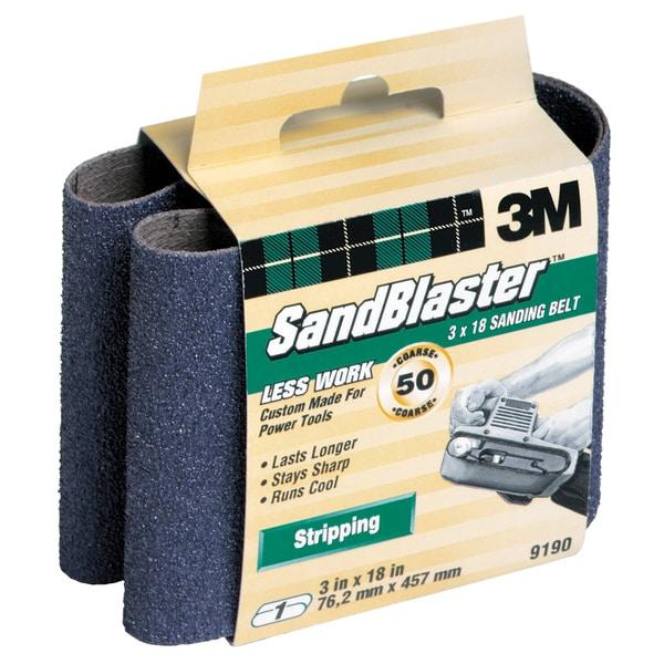 "3M 9190NA 3"" X 18"" 50 Grit SandBlaster Purple Sanding Belts"