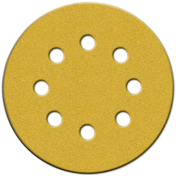 "Norton 49156 5"" 150 Grit Fine Hook & Loop Sanding Discs W/8 Holes 4-count"