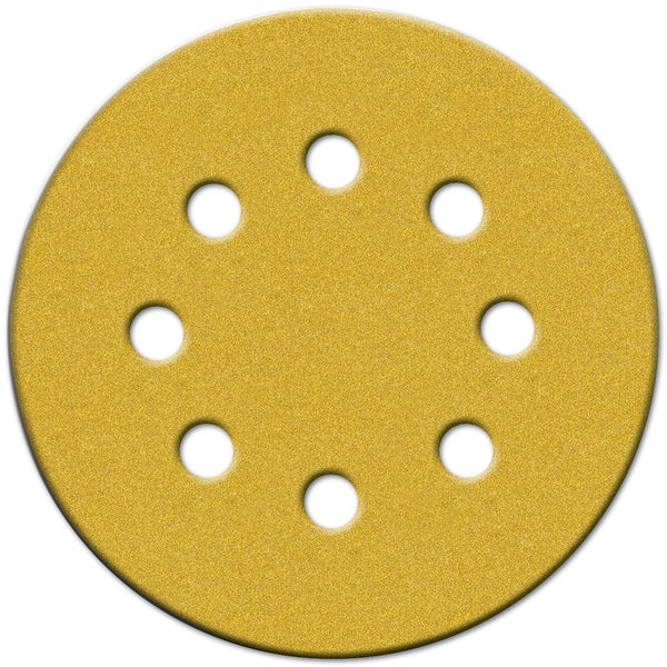 "Norton 49158 5"" 60 Grit Coarse Hook & Loop Sanding Discs W/8 Holes 4-count"