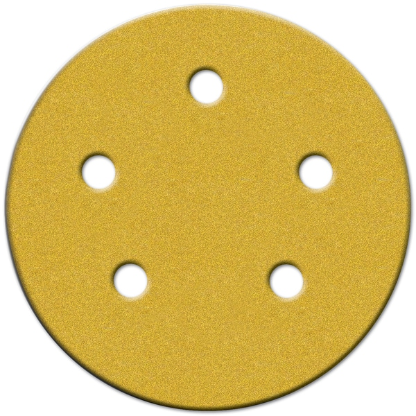 "Norton 49166 5"" 150 Grit Fine Hook & Loop Sanding Discs W/5 Holes 4-count"