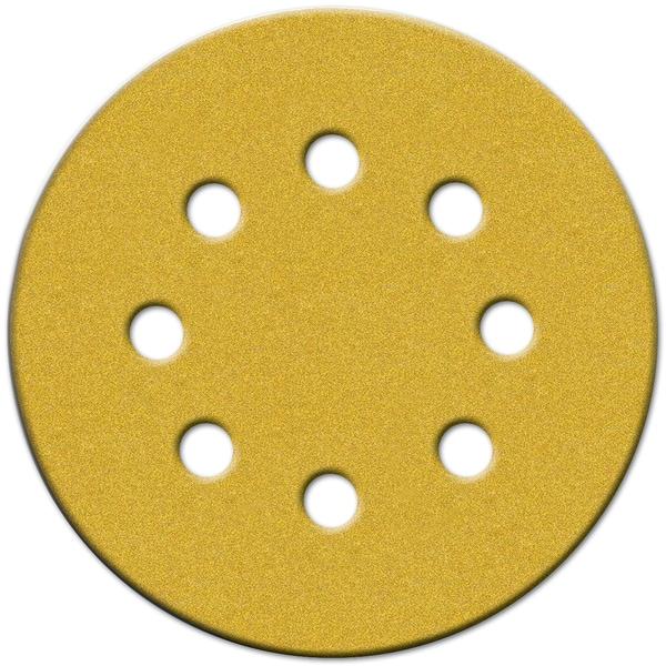 """Norton 49220 5"""" 150 Grit Hook & Loop Sanding Discs With 8 Holes 25-count"""
