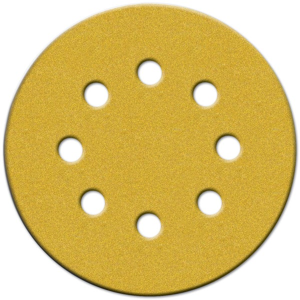 "Norton 49222 5"" 100 Grit Hook & Loop Sanding Discs With 8 Holes 25-count"