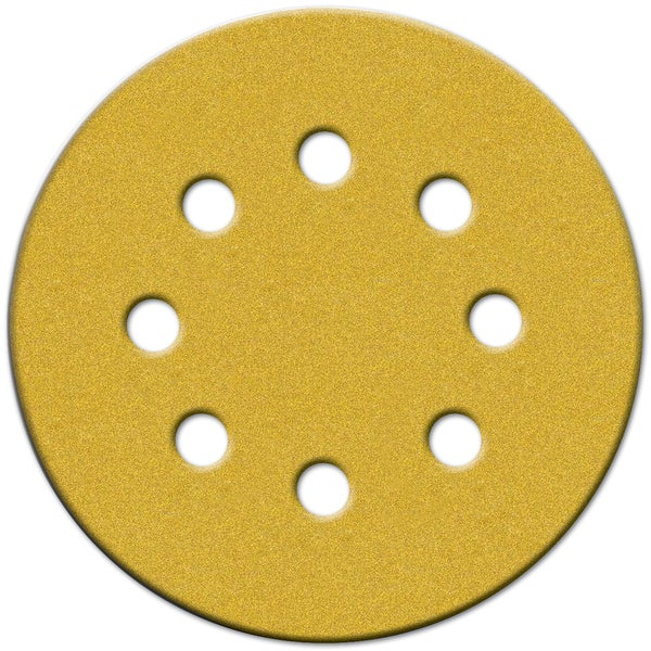 "Norton 49223 5"" 80 Grit Hook & Loop Sanding Discs With 8 Holes 25-count"
