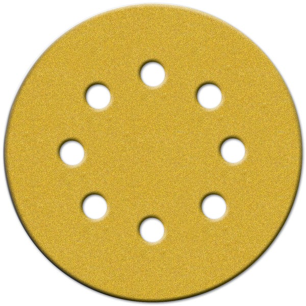 "Norton 49225 5"" 40 Grit Hook & Loop Sanding Discs With 8 Holes 20-count"
