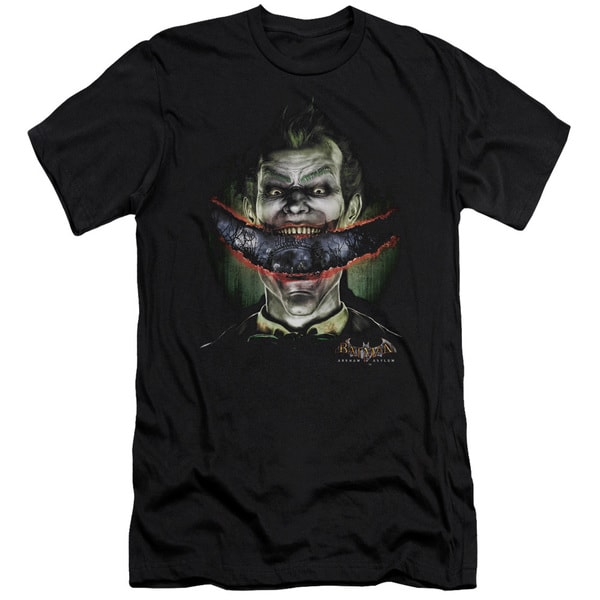 Batman Aa/Crazy Lips Short Sleeve Adult T-Shirt 30/1 in Black