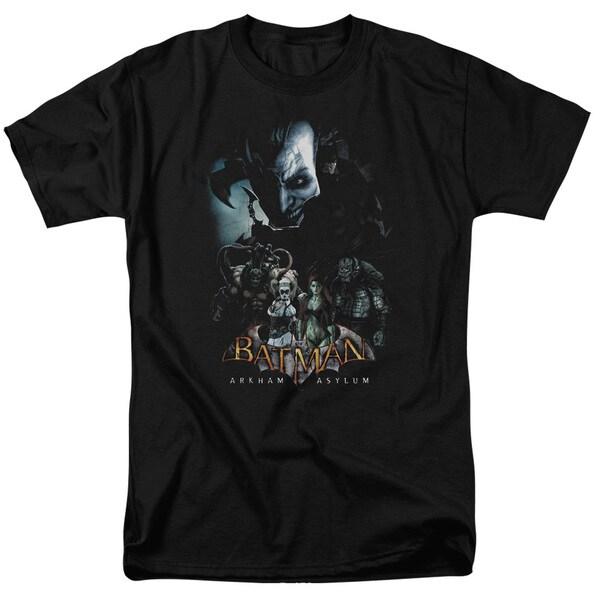 Batman Aa/Five Against One Short Sleeve Adult T-Shirt 18/1 in Black